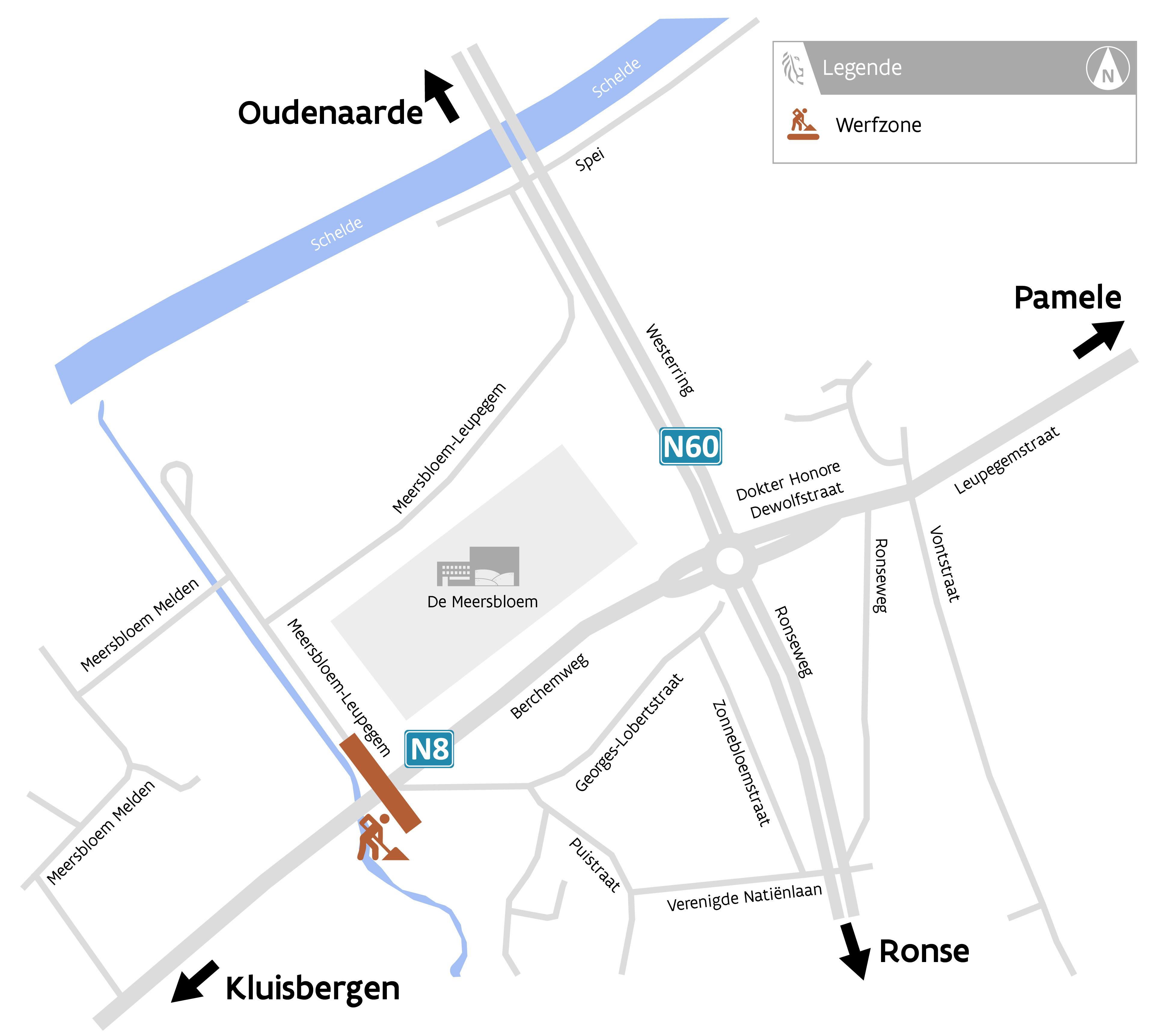 WOV Maarkebeek Oudenaarde overzichtskaartje
