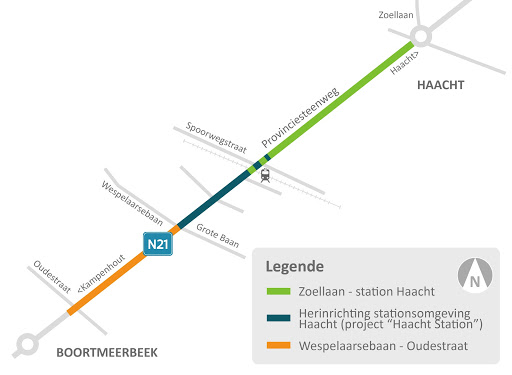 Project Stationsstraat Haacht en aangrenzende projecten