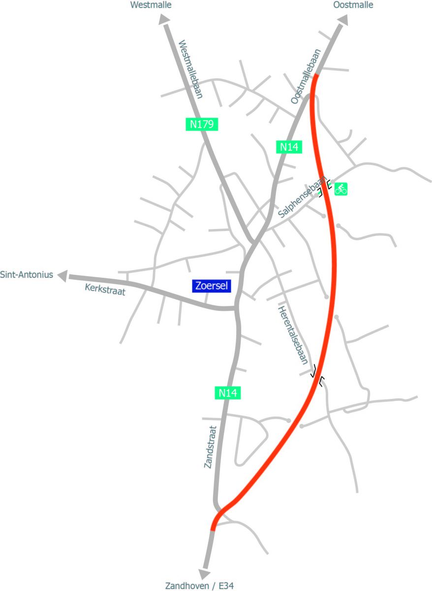 N14 Ring rond Zoersel